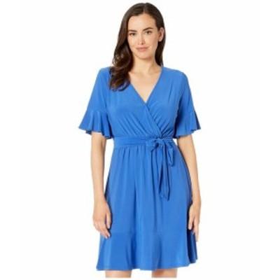 Nine West ナインウェスト ドレス 一般 Panel Hem Dress w/ Overlap Bodice & Elastic Waist