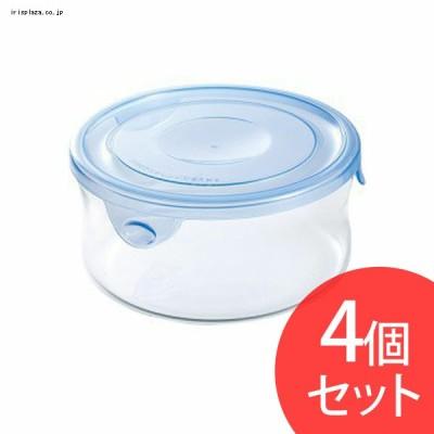 Iwaki NEWパック&レンジ 380ml(4個セット) アクアブルー KBT7401BLN
