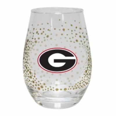 The Memory Company ザ メモリー カンパニー スポーツ用品  Georgia Bulldogs Glitter Stemless Tumbler
