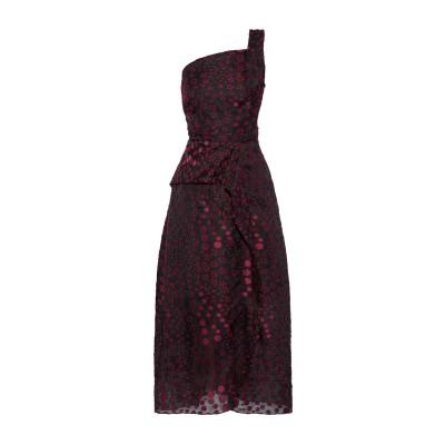ローラン ムレ ROLAND MOURET 7分丈ワンピース・ドレス ボルドー 8 ポリエステル 52% / シルク 48% 7分丈ワンピース・ドレス