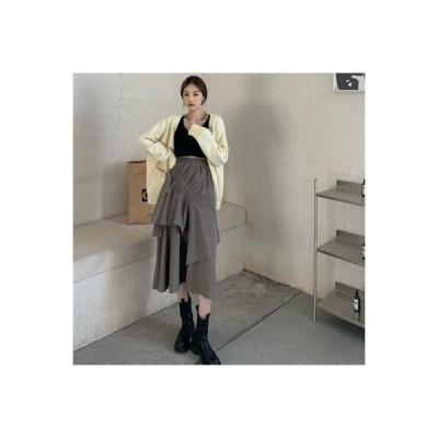 【送料無料】秋冬 ハイウエスト 着やせ スカート デザイン 感 折り畳む リボン ひ | 364331_A64136-5374014