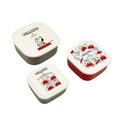 OSK 弁当箱 タイトボックス スヌーピー ピーナッツ シール容器3個セット (220ml・360ml・550ml/フタを外してレンジO