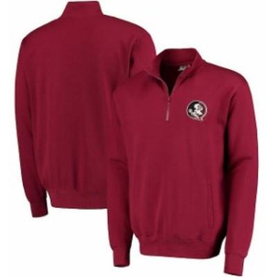 Stadium Athletic スタジアム アスレティック スポーツ用品  Florida State Seminoles Garnet Logo Quarter-Zip Sweatshirt