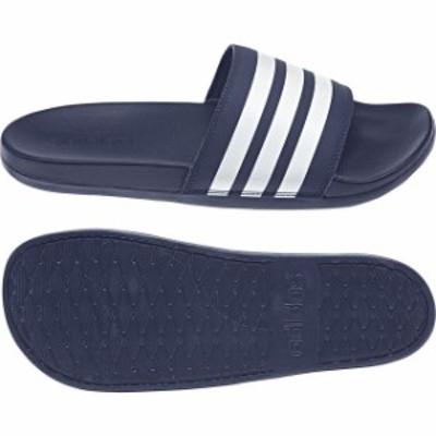 アディダス ADILETTECFULT (B42114) サッカー シャワー サンダル : ネイビー×ホワイト adidas