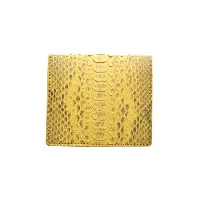 (sankyoshokai/サンキョウショウカイ)ダイヤモンドパイソンレザーミニ財布マネークリップ/ユニセックス イエロー