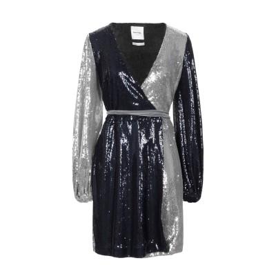 BLACK CORAL ミニワンピース&ドレス ダークブルー 42 ポリエステル 85% / ナイロン 15% ミニワンピース&ドレス