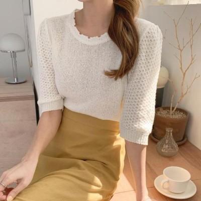 cherryville レディース ニット/セーター I feel sweet puff knitwear