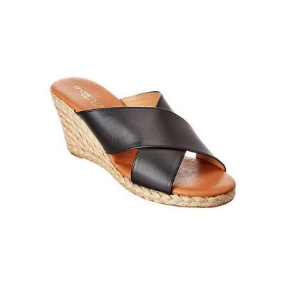 レディース シューズ  Andre Assous Amber Leather Wedge Sandal