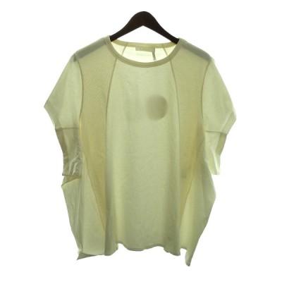【11月20日値下】Chloe 「Cotton Rib Jersey Seamed T-Shirt」コットンリブジャージTシャツ ホワイト サイズ:M
