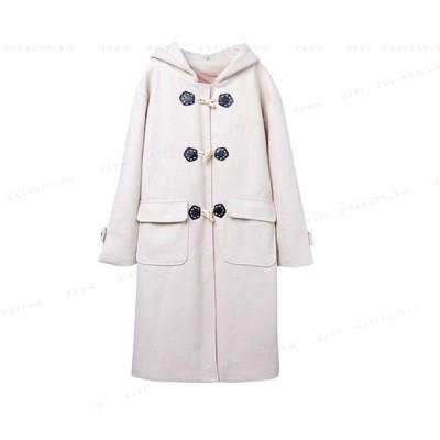 ダッフルコートアウターオーバーコートレデイースロング丈冬服かわいい