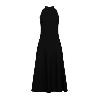 ステラ マッカートニー STELLA McCARTNEY 7分丈ワンピース・ドレス ブラック 42 レーヨン 83% / ポリエステル 17% /