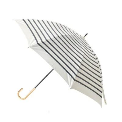 grove/グローブ 遮光遮熱ロープボーダーパラソル(長傘) オフホワイト(303) 00