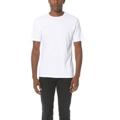 サンスペル メンズ Tシャツ トップス Sea Island Cotton Crew Neck Tee White