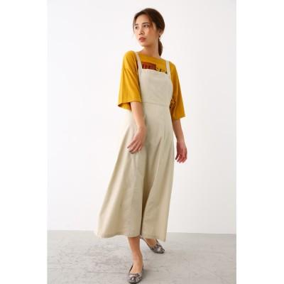 リネンライク サロペット スカート