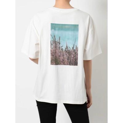 【公式】MURUA(ムルーア)フラワーフォトプリントTシャツ