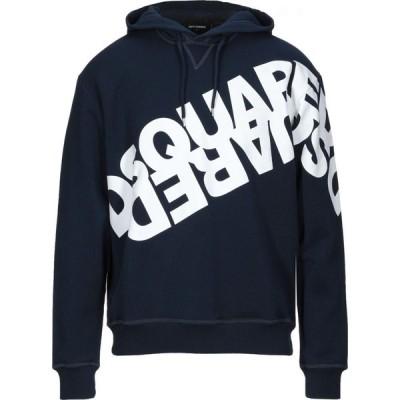 ディースクエアード DSQUARED2 メンズ パーカー トップス Hooded Sweatshirt Dark blue