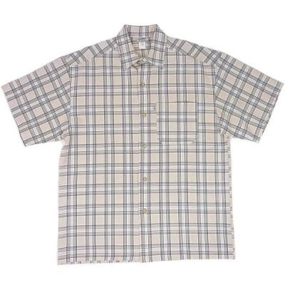 CAL TOP キャルトップ スモールチェック 半袖 ボタンシャツ (カーキブラック) [並行輸入品]