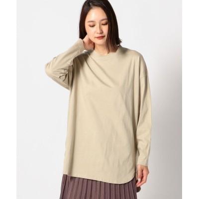 (UNRELISH/アンレリッシュ)オーガニックコットンロングTシャツ/レディース ベージュ