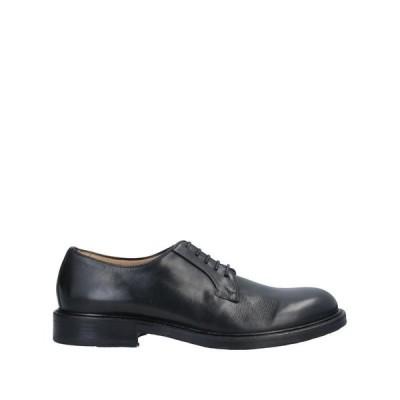 G.B. CENERE メンズ レースアップシューズ 靴 ブラック