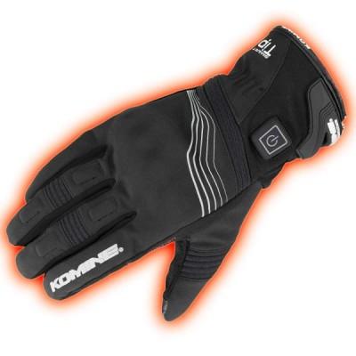 コミネ KOMINE バイク プロテクトエレクトリックグローブショート12V 手袋 電熱 発熱 防寒 Black/XL 08-202 EK-202