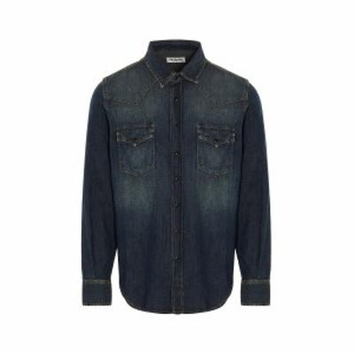 SAINT LAURENT PARIS/イヴ サンローラン Blue Western denim shirt メンズ 春夏2021 597059Y880U4255 ju