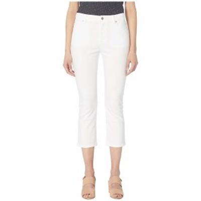 エイリーンフィッシャー レディース デニムパンツ ボトムス Organic Cotton Stretch Denim Slim Cropped Jean White