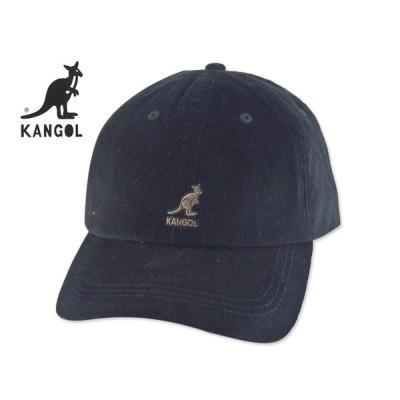 ☆KANGOL【カンゴール】CORD BASEBALL BLACK コーディロイ キャップ ブラック 18329