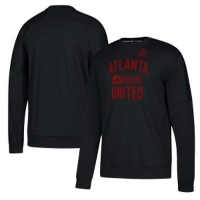 アディダス メンズ パーカー・スウェット アウター Atlanta United FC adidas Team Issued Fleece Pullover Sweatshirt Black