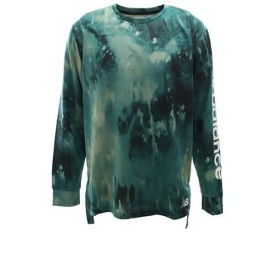 Tシャツ メンズ 長袖 997S プリント ヘザーテック AMT01054MG2 オンライン価格