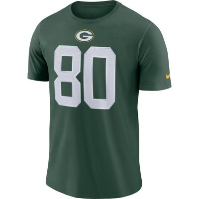 ナイキ メンズ NFL Jimmy Graham Green Bay Packers Nike Player Name & Number T-Shirt 半袖 Tシャツ ドライフィット Green