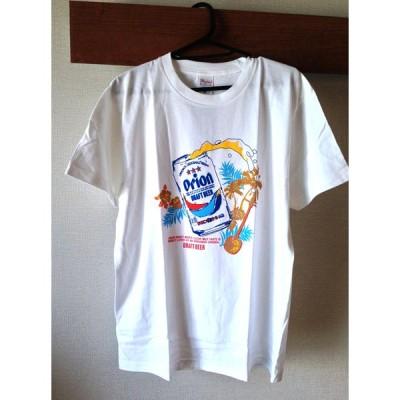 オリオンアロハTシャツ orionシャツ 白 オリオンビール ドラフト S M L XL サイズ 綿100% 沖縄お土産