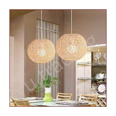 新品LAKIQ Farmhouse Globe Single Pendant Light Creative Rattan Kitchen Island Lighting Modern Hanging Ceiling Pendant Lights for Dining Ro