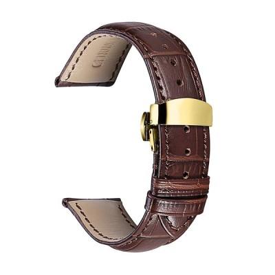 時計バンド14mm 16mm 18mm 19mm 20mm 21mm 22mm 本革ストラップ 腕時計ベルト ゴールドDバックル 簡単交換 CHIMAERA