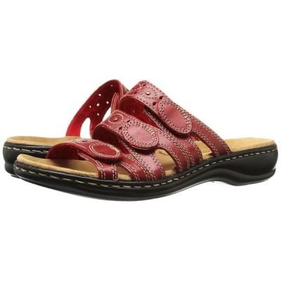 クラークス Clarks レディース サンダル・ミュール シューズ・靴 Leisa Cacti Q Red Leather