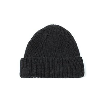 BASIQUENTI [ ベーシックエンチ ] ニット帽 レディース メンズ (ローワッチ/浅め) ニット帽子 ブラック 男女兼用