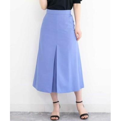 MK MICHEL KLEIN/エムケーミッシェルクラン 【洗える】台形シルエットスカート ブルー 38
