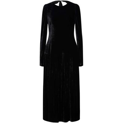 ステラ マッカートニー STELLA McCARTNEY 7分丈ワンピース・ドレス ブラック 40 レーヨン 82% / シルク 18% / ポリエ