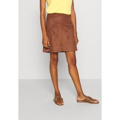 エスプリ スカート レディース ボトムス A-line skirt - brown