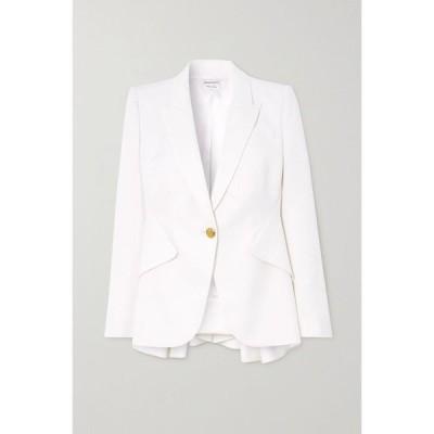 アレキサンダー マックイーン Alexander McQueen レディース スーツ・ジャケット アウター wool-twill peplum blazer Soft White
