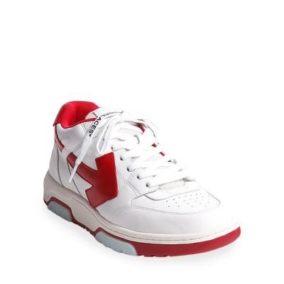 オフ-ホワイト メンズ スニーカー シューズ Men's Vintage Classic Low-Top Sneakers