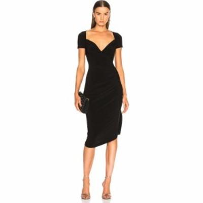 ノーマ カマリ Norma Kamali レディース ワンピース ワンピース・ドレス sweetheart side drape dress Black