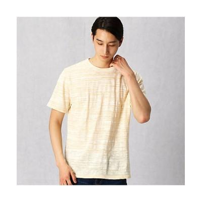 <ARTISAN MEN(Men)/アルチザン・メン> スプレープリントスラブTシャツ(5942TP01) キイロ【三越伊勢丹/公式】
