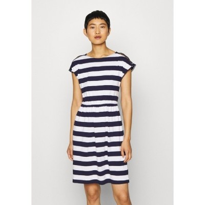 アンナフィールド ワンピース レディース トップス Jersey dress - evening blue/white