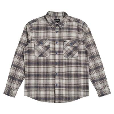 Brixton Bowery L/S Flannel Shirt Twilight Blue L ネルシャツ 送料無料