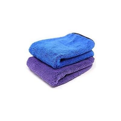 改良版 超吸水 大判 厚手 マイクロファイバー 速乾 タオル 車 洗車 磨き上げ 拭き取り タオル 室内 掃除 2点セット