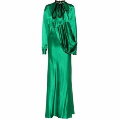 ワイプロジェクト Y/PROJECT レディース ワンピース ワンピース・ドレス Satin dress emerald green