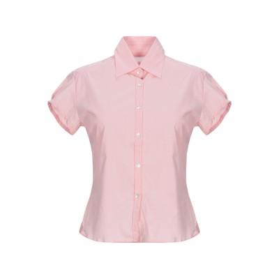 GUGLIELMINOTTI シャツ ピンク 40 コットン 68% / ナイロン 28% / ポリウレタン 4% シャツ