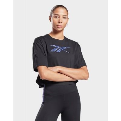 リーボック Reebok レディース Tシャツ トップス modern safari graphic t-shirt black