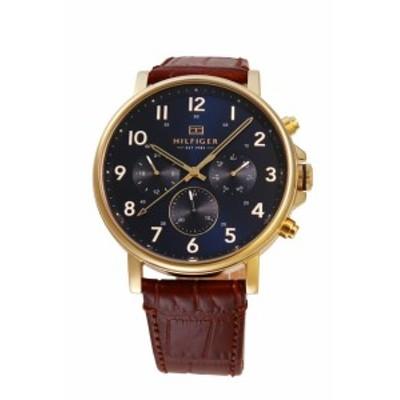 トミー ヒルフィガー TOMMY HILFIGER メンズ 腕時計 ネイビー ブラウン 1710380 【激安】 【SALE】