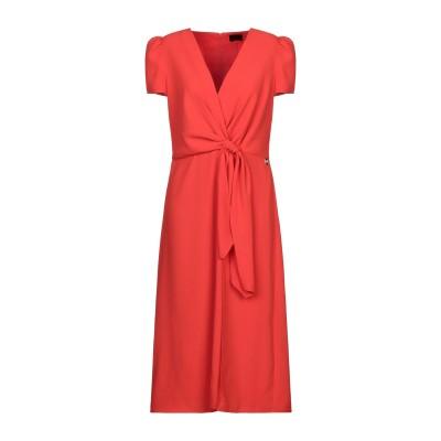 ELISABETTA FRANCHI 7分丈ワンピース・ドレス オレンジ 46 ポリエステル 100% 7分丈ワンピース・ドレス